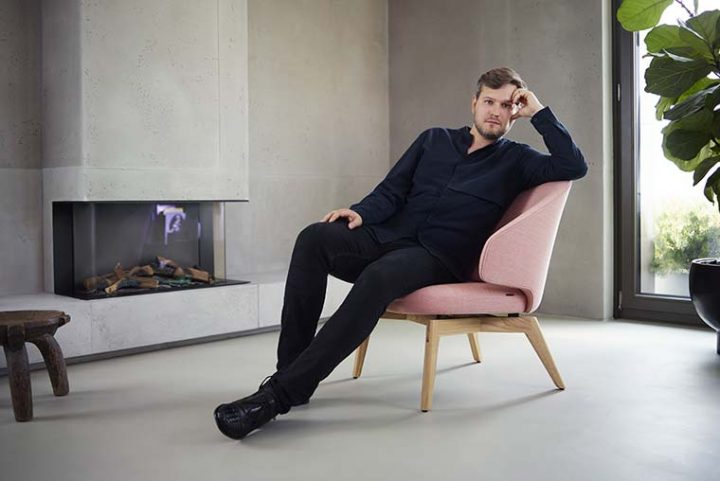 Let™ by Sebastian Herkner for Fritz Hansen. A lounge chair to stay awhile