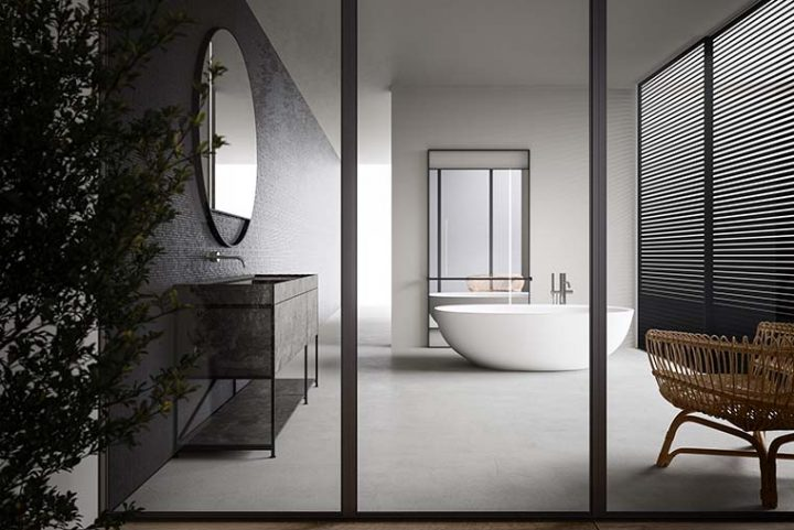 R.I.G. Bathroom system designed by Mikal Harrsen for Boffi