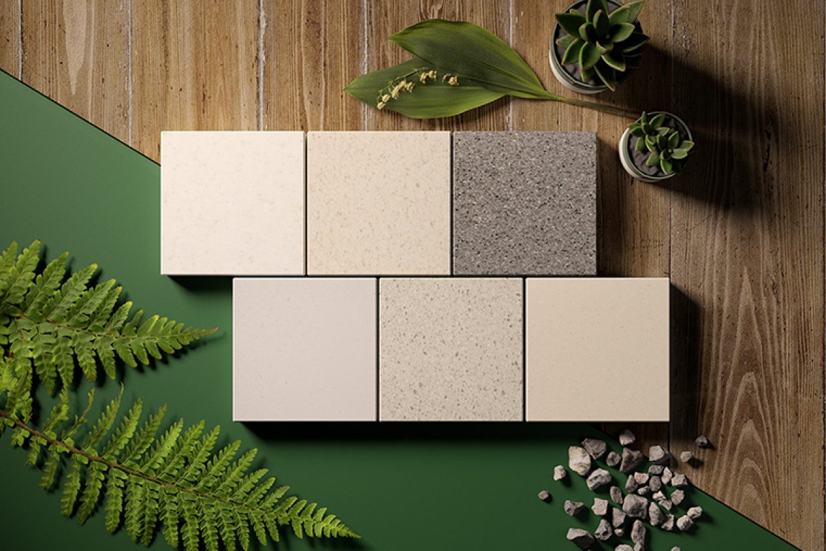 HI-MACS® focuses on sustainability with new recycled colours