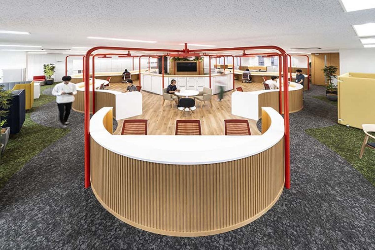 Prism Design designed the new offices of Fontworks in Fukuoka, Japan
