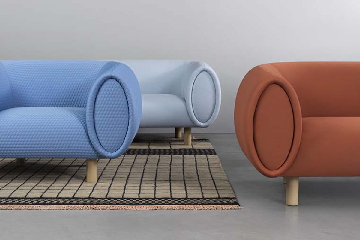 Elena Trevisan designed Tobi for Rexite, a sofa considerable in volume and sensuous in form