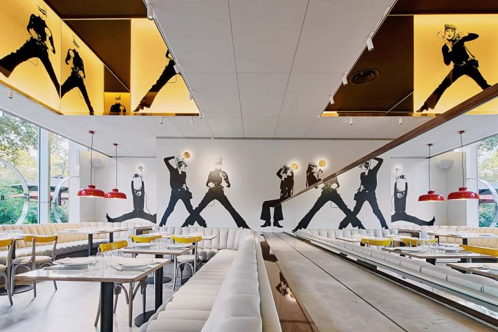 Croma by Flash Restaurant by Llamazares Pomés Arquitectura, a tribute to Correa-Milá's project from the 70s