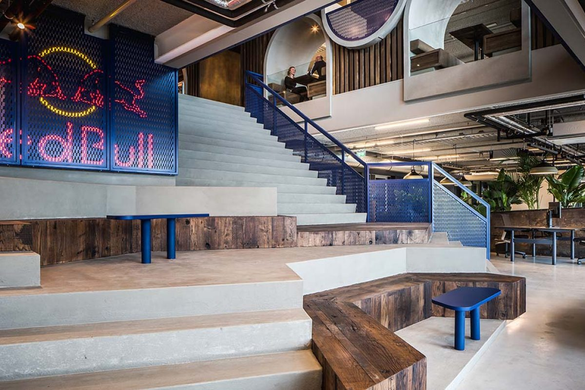 The new workspace of Red Bull Amsterdam. A project by Casper Schwarz