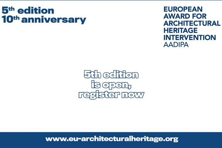 The European Award for Architectural Heritage Intervention Opens Registration for its 5th Edition