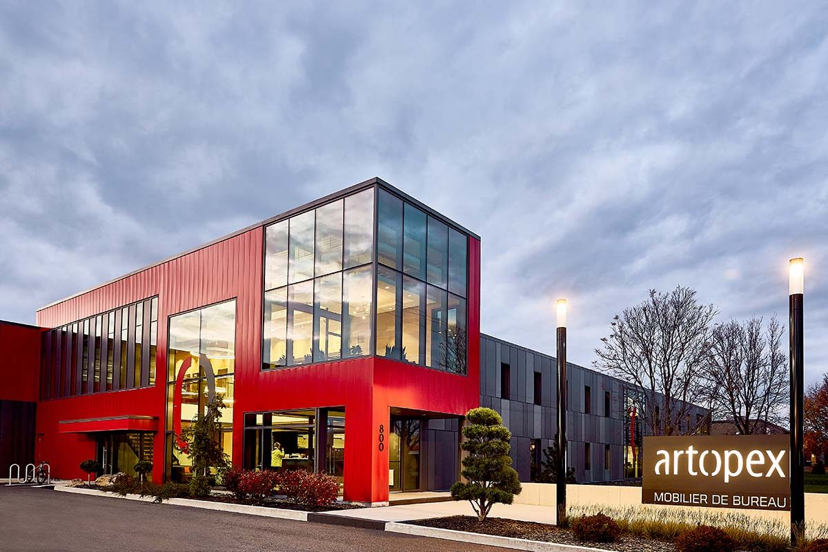 Luc Plante designed the new Artopex Granby Head Office