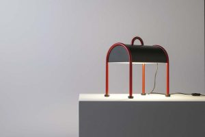 It's back to travelling with the Valigia. The new version of Ettore Sottsass's iconic lamp for Stilnovo
