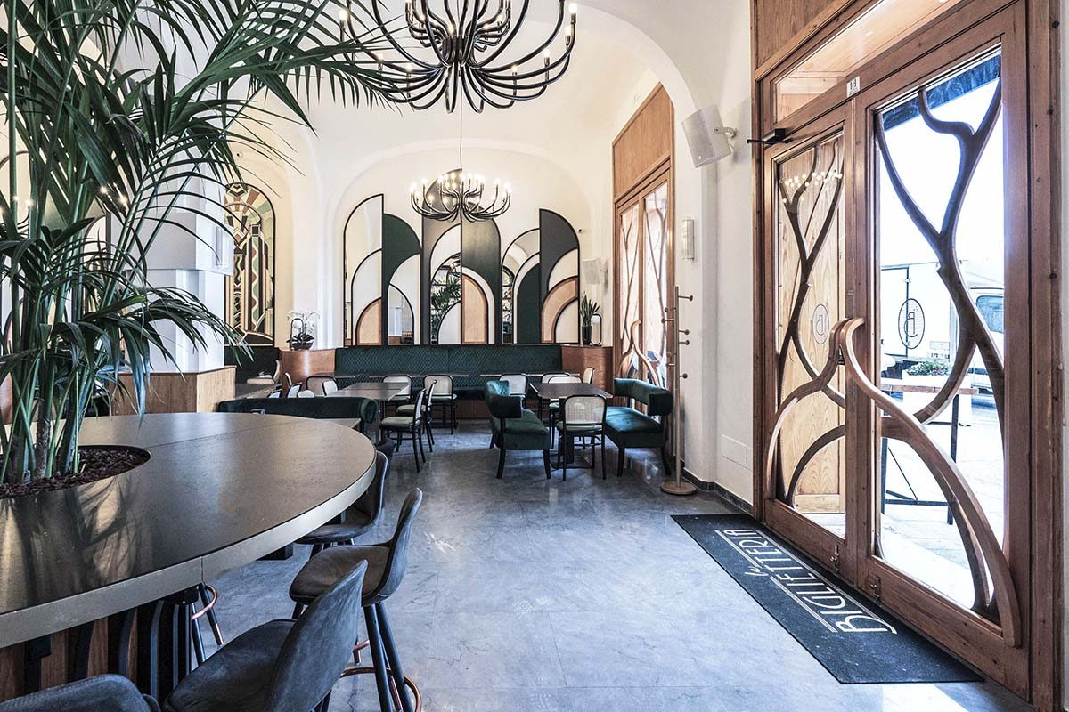 La Biglietteria, New Decò style restaurant in Bari designed by SMALL