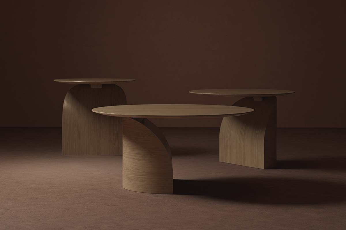 Swedese launches Savoa, a sculptural table with a delicate balance