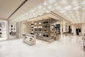 Case Studies: Margraf marbles are the stars at the new Versace boutique in Paris