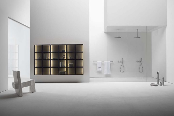 Falper presents Butler, the modular wardrobe cabinet specifically created for the bathroom