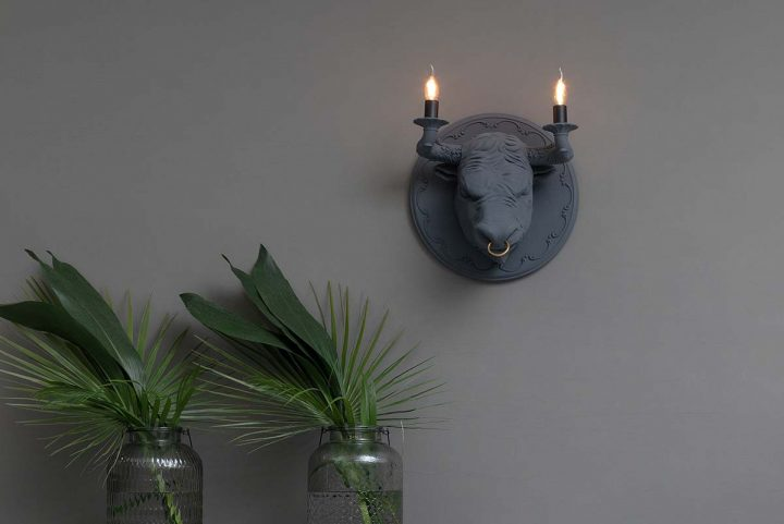 Corrado wall lamp by Matteo Ugolini for Karman. An homage to the ancient art of bullfighting