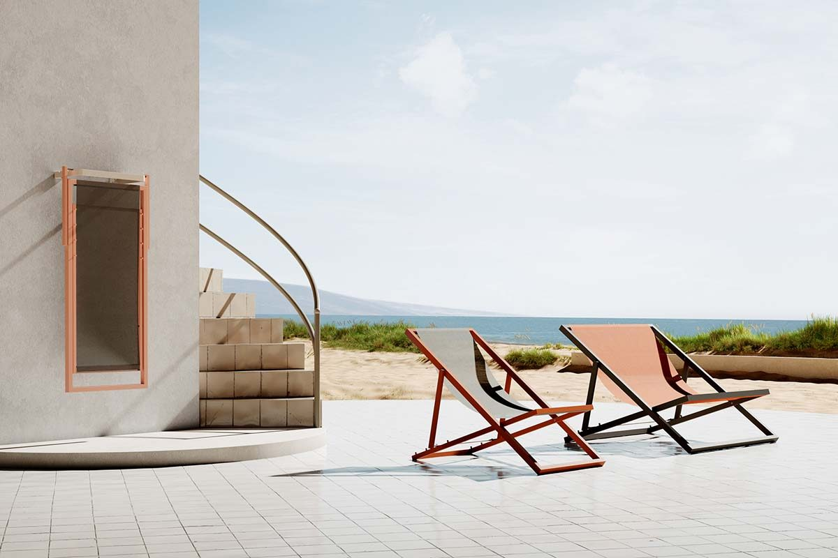 Gandula by Oiside, a more up-to-date and efficient version of the typical Mediterranean deckchairs